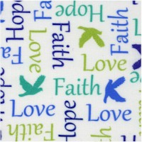 Psalms - Words of Faith on White by Cindy Sepp