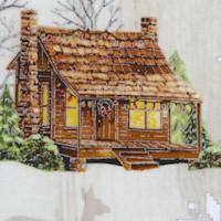 Cozy Cabin Christmas - Gilded Winter Scenic