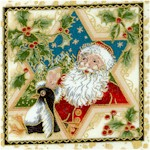 The Spirit of Christmas - Gilded Santa Scenes in Frames