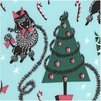 Canine Christmas - Whimsical Retro Holiday Dogs