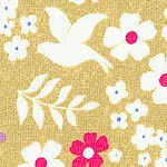 Faith, Hope and Love - Elegant Doves and Flowers on Metallic Gold - LTD. YARDAGE AVAILABLE