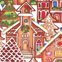 Gingerbread Factory - Packed Gingerbread Village