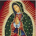 Virgin of Guadalupe - Gilded Portraits with Cherubs on Black-TEMPORARILY OUT OF STOCK.  PLEASE CHECK