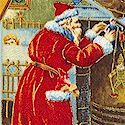 Victorian Holiday Tossed  Gilded Christmas Postcards
