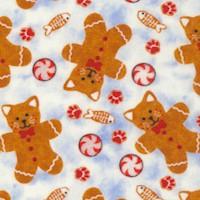 Kitty Christmas - Tossed Kitty Cat Gingerbread Cookies by Kayomai Harai