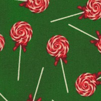 A Gingerbread Christmas - Tossed Holiday Lollipops on Green