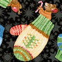 Not a Creature Was Stirring - Tossed Mittens and Holiday Mice - SALE! ONE YARD MINIMUM (CHR-mittens-