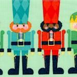 Nutcracker Christmas - Small Scale Nutcrackers in Rows