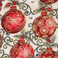 Winter Elegance - Gilded Elegant Ornaments on Ivory