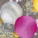 Season�s Greetings - Gilded Ornament Clusters