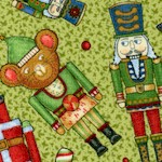 Not a Creature was Stirring - Whimsical Nutcrackers on Green