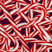 Peppermint Twist - Tossed Candy Canes on Black
