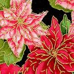 Elegant Gilded Poinsettias