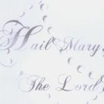 Bible Study - Hail Mary Catholic Rosary in Blue/Gray