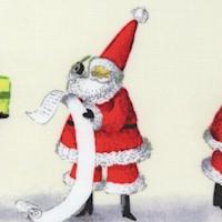 Peppermint Christmas - Whimsical Santa Stripe by Nutshell Designs