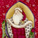 Christmas Spirit - Gilded Santa Panel - PRICED AND SOLD BY THE FULL PANEL ONLY