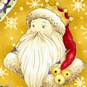 Christmas Spirit - Gilded Tossed Santas