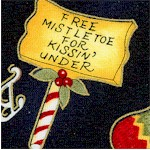 Dear Santa - Tossed Gilded Holiday Goodies and Phrases by  Diane Knott
