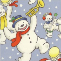Xmas Time - Snowman Band on Blue