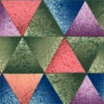 Kaleidoscope Style Shaded Triangles in Soft Colors - SALE! (ONE YARD MINIMUM PURCHASE)