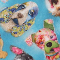 Good Dogs Too - Tossed Puppy Heads by Connie Haley