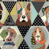 Life is Better with a Dog - Multi Dog Frames by Lanre Adefioye