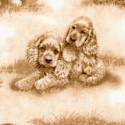 Dog Days - Adorable Puppies All Over in Shades of Brown