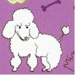 Doggy Dog - Tossed Whimsical Dogs on Purple