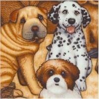 It's a Ruff Life - Doggie Group Portrait by Dan Morris