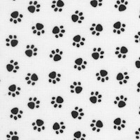 Petite Pawprints in Black on White