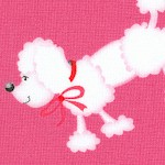 Girly Girl - Tossed Poodles and Polka Dots on Pink