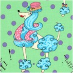 Molly Goes to Paris - Tossed French Poodles by Cheryl Jukish