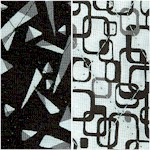 Reversible Quilted Graphics Geometric Print in Black and White