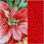 Reversible Quilted,Gilded Holiday Editions Poinsettias