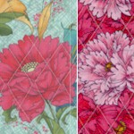 Reversible Quilted Dianthus Floral