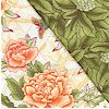 Reversible Quilted, Tranquil Garden
