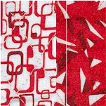 Reversible Quilted, Graphics Geometric Print in Red and White
