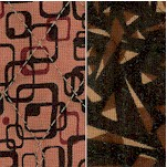Reversible Quilted Graphics Geometric Print in Shades of Brown