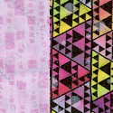 Reversible Quilted  Frenzy Geometric (DFQ-frenzy-Q229)