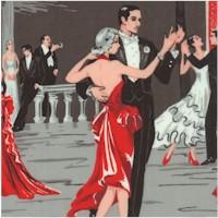 Romantic Nights - Cuban Nightclub Scenes in Black, Gray and Red