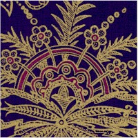 Treasures of Alexandria - Elegant Gilded Egyptian Motifs on Purple