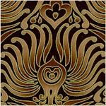 Plume - Elegant Gilded Art Deco Design on Chocolate Brown