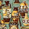 Antiquities: Greek-Style Vases and Urns on Sage