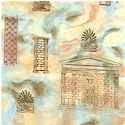 Antiquity - Ancient  Greek Architecture by Ro Gregg - SALE! (MINIMUM PURCHASE 1 YARD)