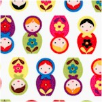 Minis - Small Scale Matroyshka Dolls on Ivory