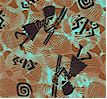 Kenta - Tribal Figures on Texture Background (ETH-kenta-K758)