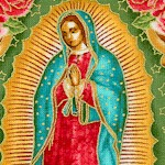 Inner Faith 4 - Our Lady of Guadalupe Gilded Small-Scale Portraits on Beige