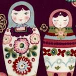 Zhivago - Nadya Gilded Matryoshka Nesting Dolls #1