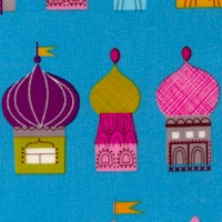 Little Kukla - Gilded Colorful Onion Domes on Blue