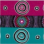 Desert Flowers - Aboriginal Stripe by Marie Elena Ellis